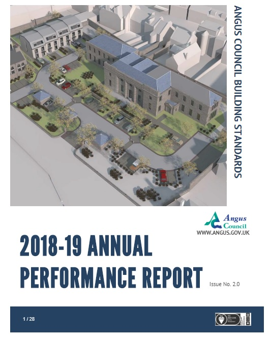 Building standards annual performance report cover
