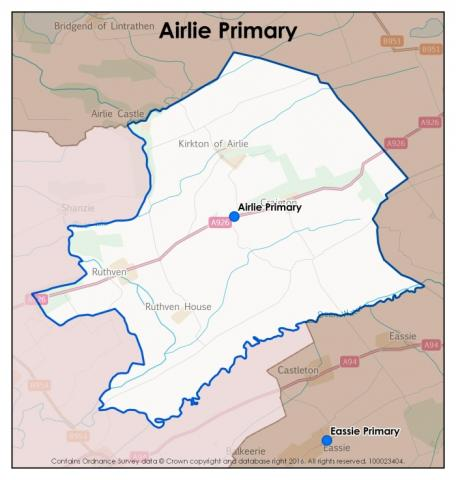 Airlie Primary School catchment area
