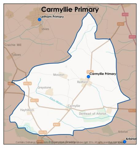 Carmyllie Primary School catchment area