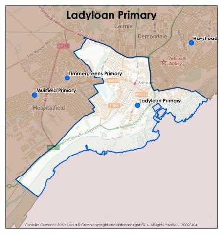 Ladyloan Primary School catchment area