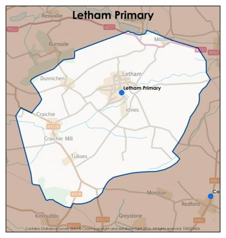 Letham Primary School catchment area