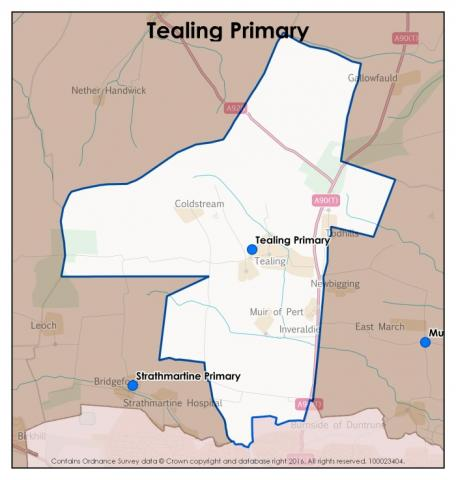 Tealing Primary School catchment area