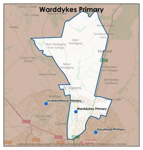 Warddykes Primary School catchment area