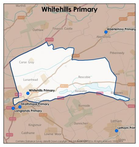Whitehills Primary School catchment area