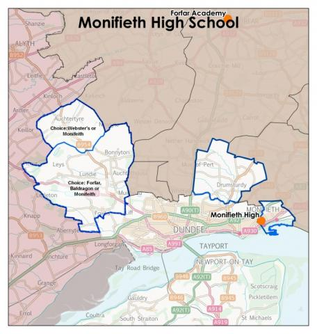 Monifieth High School catchment area