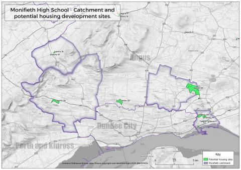 MHS catchment and potential housing