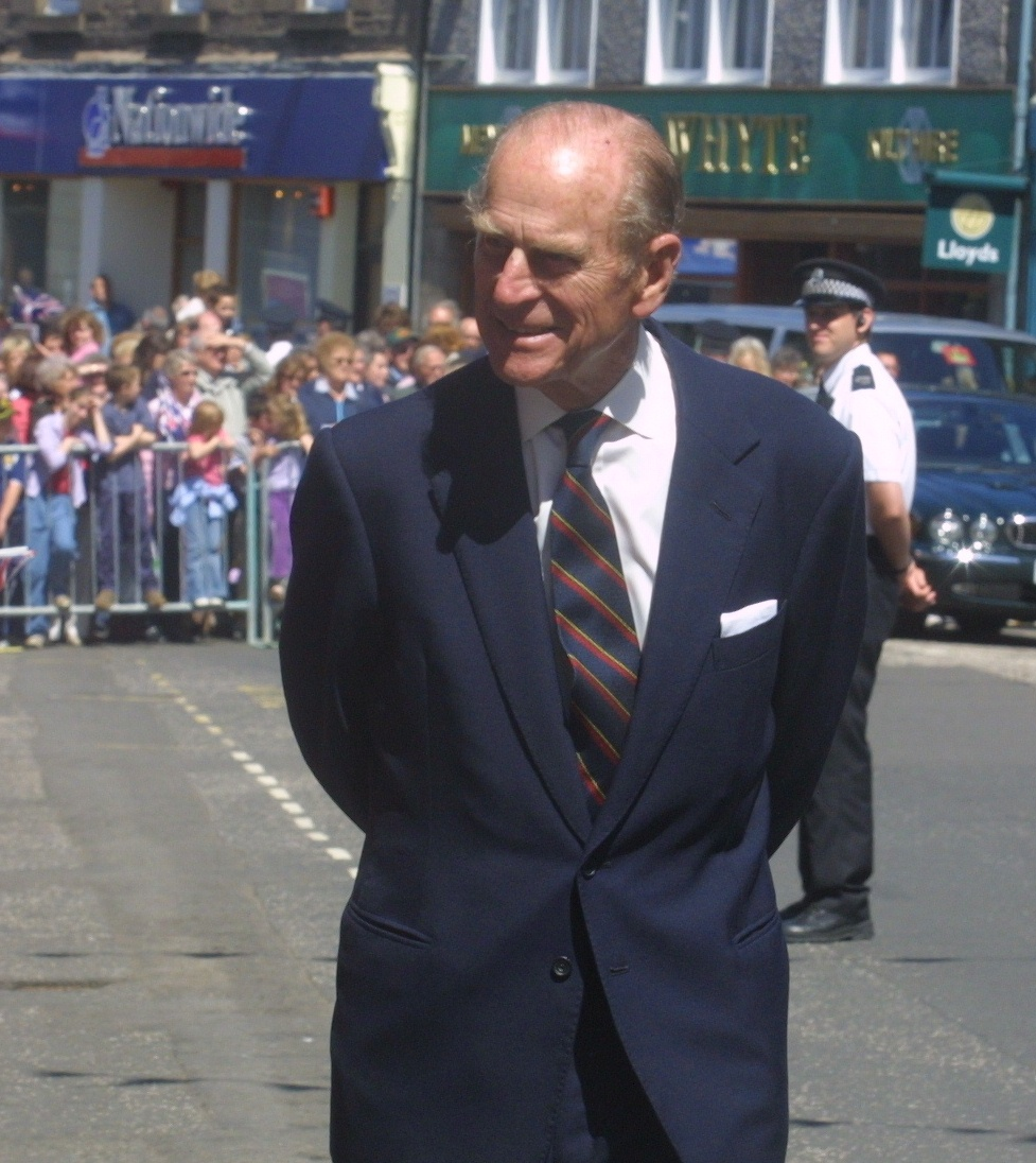 HRH Prince Philip during his visit to Forfar
